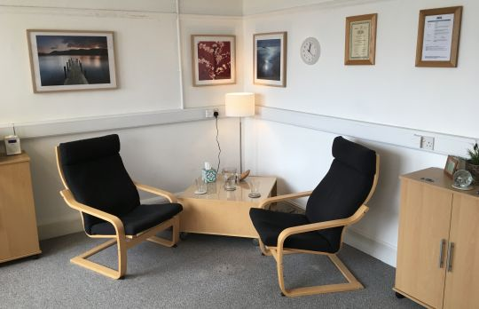Consulting Room of Newport Registered Counsellor Adrian Day