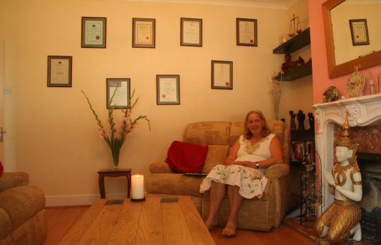 Consulting Room of Bexley Accredited Counsellor Annie Thompson