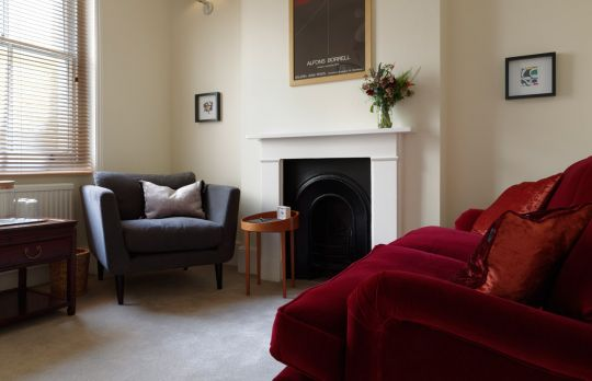 Consulting Room of London Accredited  Counsellor Anna Jezuita