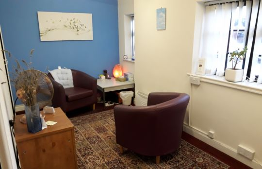 Consulting Room of Crewe Registered Counsellor Joy Hazlehurst