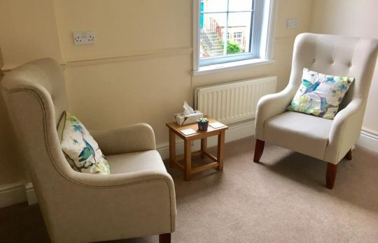Consulting Room of Wakefield Registered Counsellor Leah Lowe