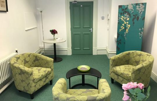 Consulting Room of Stamford Registered Counsellor Tanya Sharpe