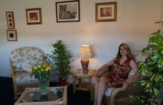 Consulting Room of Mansfield Accredited Psychotherapist Paula Brocklehurst