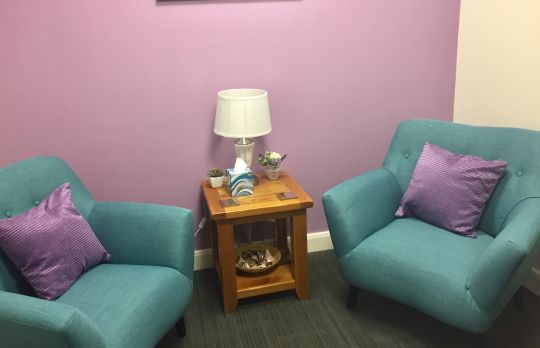 Consulting Room of Wakefield Registered Counsellor Nancy Woliter