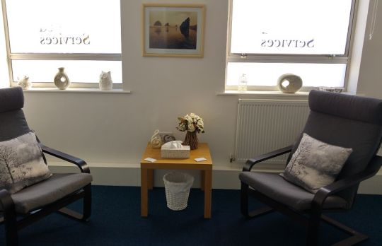 Consulting Room of Mansfield Registered Psychotherapist Neale Haddon