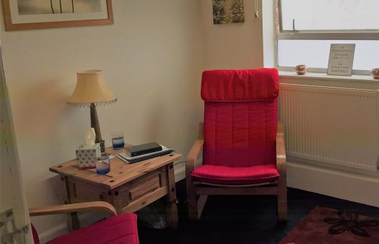 Consulting Room of Mansfield Accredited  Counsellor Teresa Reynolds