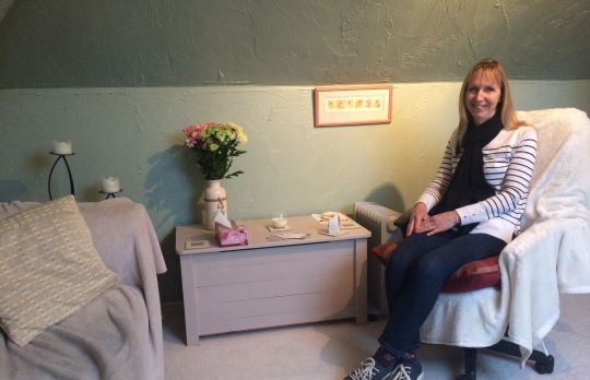 Consulting Room of Liskeard Registered Counsellor Debbie