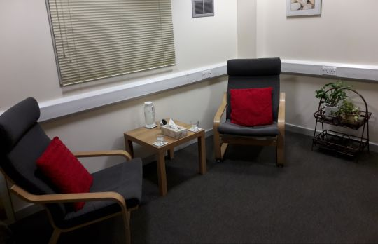 Consulting Room of Rotherham Registered Counsellor Linda Panek