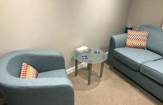Consulting Room of Darlington Registered Psychotherapist Kirsty Anderson