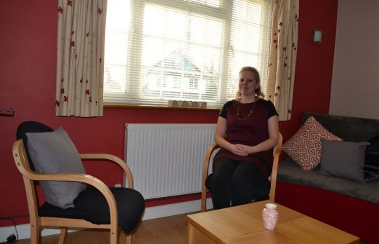 Consulting Room of Farnham Accredited  Counsellor Fiona Liggins