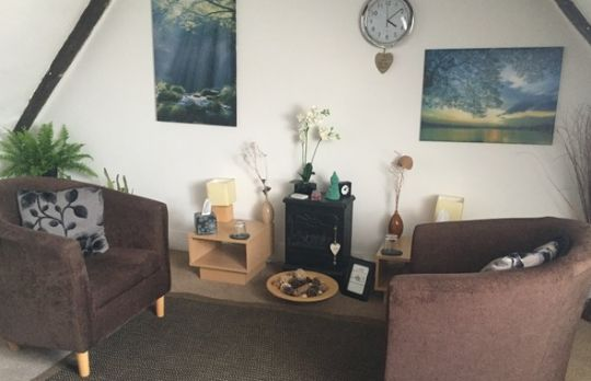 Consulting Room of Southend-on-Sea Registered Counsellor Sarah Lodge