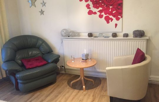 Consulting Room of Swansea Registered Counsellor Amanda Wyatt