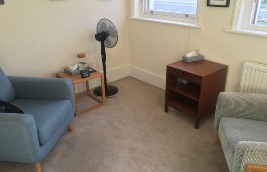 Consulting Room of London Registered Counsellor Suzannah Chick
