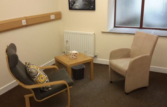 Consulting Room of Clitheroe Accredited  Counsellor Simon Cookson
