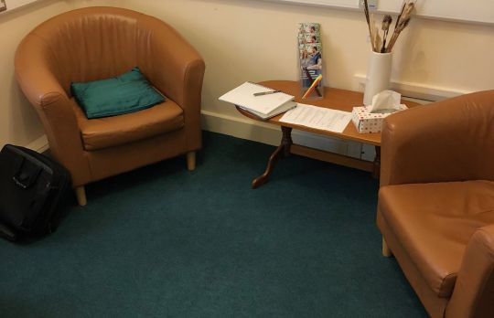 Consulting Room of Dorchester Registered Psychologist Colin McGuinness