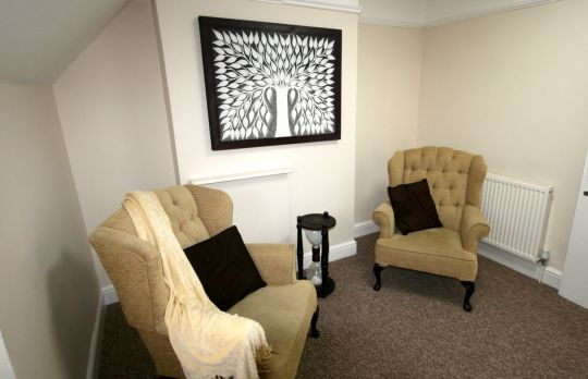 Consulting Room of Birmingham Accredited Psychotherapist Ambrose Koryang