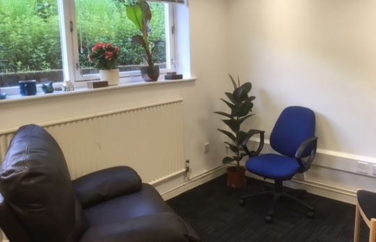 Consulting Room of Stoke-on-Trent Registered Psychotherapist Carolyn Malkin