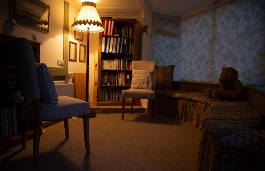 Consulting Room of Torquay Chartered Psychologist Stephen Reynolds