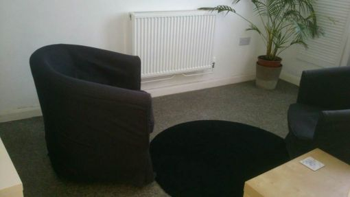 Consulting Room of Brighton Registered Psychotherapist Louise