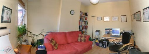 Consulting Room of Manchester Registered Psychotherapist Nigel Magowan