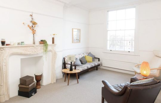 Consulting Room of London Registered Dramatherapist Jamie Kelly