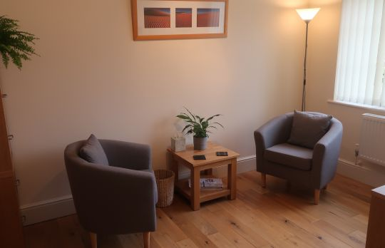 Consulting Room of Sidmouth Accredited  Counsellor Martin Hillson